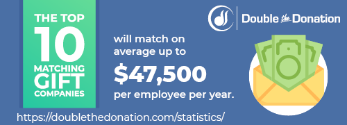 CSR Statistic: The top 10 matching gift companies will match on average up to $47,500 per employee per year.