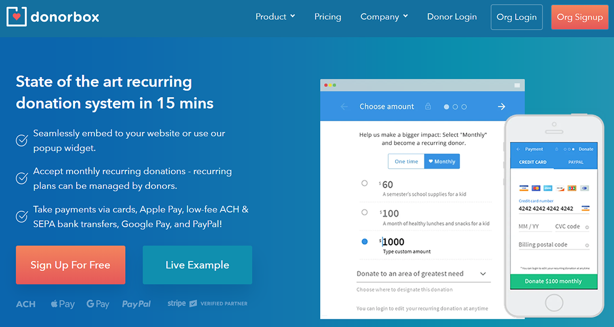 Learn more about Donorbox, one of the top Salesforce apps for nonprofits.