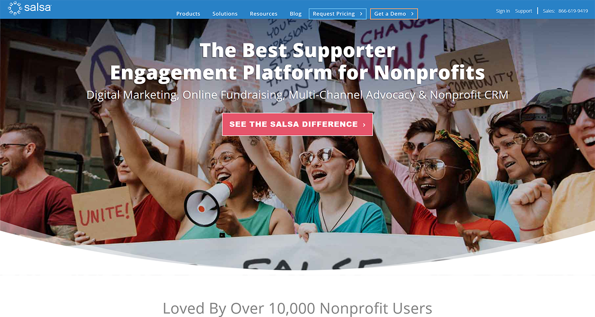 Learn more about Salsa Engage, one of the top Salesforce apps for nonprofits.