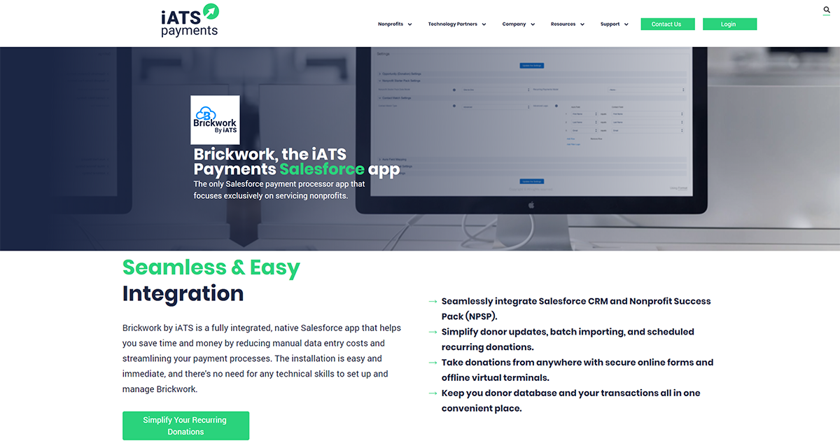 Learn more about Brickwork, one of the top Salesforce apps for nonprofits.