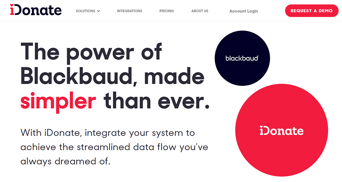 Learn more about iDonate, one of the top Blackbaud integrations.