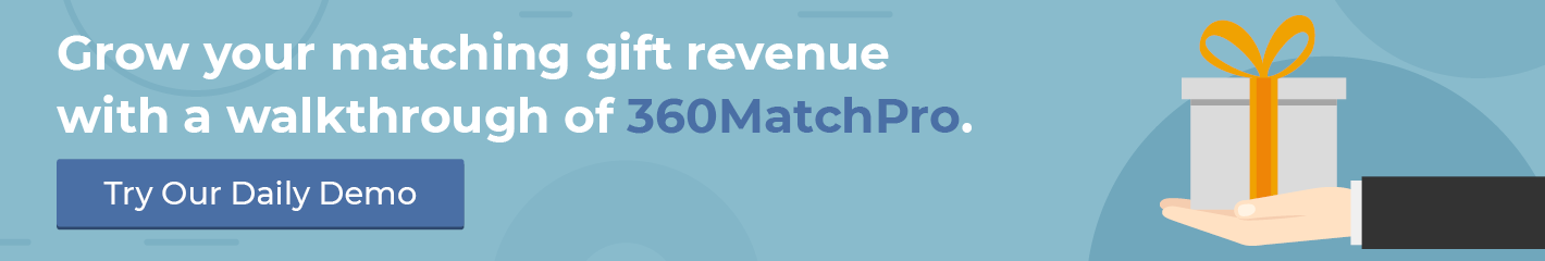 Get more from your matching gift letters with a demo of 360MatchPro!
